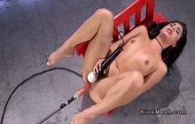 Gina Valentina fucking with vibrator and machine