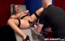 Amazing fist and machine fuck for lusty milf