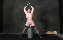Brunette MILF in bondage