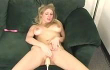 Allison takes on the new fuck machine