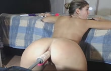 Experiencing anal orgasms while fucked by a machine...